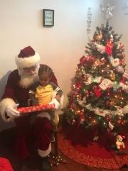 Santa came to visit us